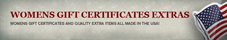 GIFT CERTIFICATES & EXTRAS