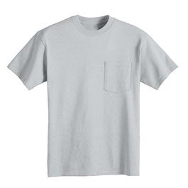 Bayside 3015 6 1oz Short Sleeve Pocket Union Made T Shirt