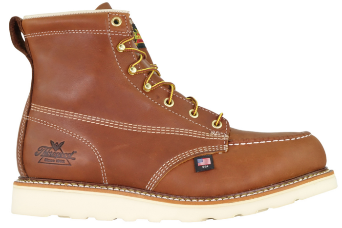 03d4b6f4d10 Thorogood 804-4200 American Heritage - 6″ Tobacco Safety Toe – Moc Toe  Maxwear Wedge Boot