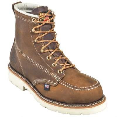 7a30692d856 Thorogood 804-4375 American Heritage – 6″ Trail Crazyhorse Safety Toe – Moc  Toe Maxwear 90™