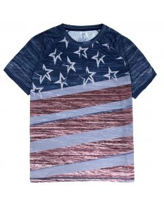 Patriotic Flag Performance Tee