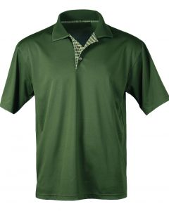 Men's Plaid Placket Polo