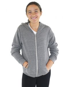Youth Triblend Fleece Zip Hoody - Made in USA