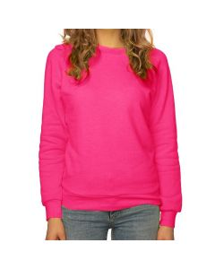 Women's Fashion Fleece Neon Raglan Pullover