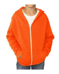 Youth Fashion Fleece Neon Zip Hoody