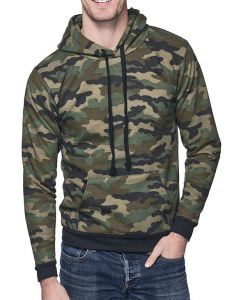 Unisex Camo Fleece Pullover Hoody - Made in USA