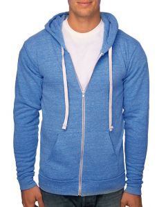 Unisex eco Triblend Fleece Full Zip Hoody - Made in USA