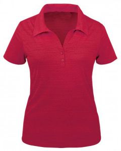Tiger Stripe Ladies Y-Placket Jersey Polo