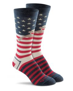 Red Heel Monkey Flag crew socks