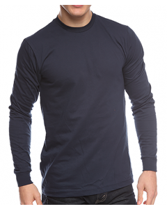 Organic Long Sleeve Crew Tee - Made in USA