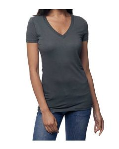 Unisex Viscose Hemp ORGANIC V Neck Tee - Made in USA