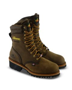 804-3555 LOGGER SERIES – 9″ BROWN CRAZYHORSE WATERPROOF