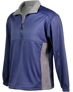 Quarter Zip Contrast Fleece Pullover Made in America