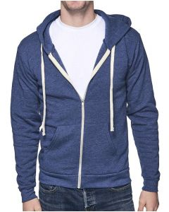 Unisex Organic RPET French Terry Zip Hoody - Made in USA