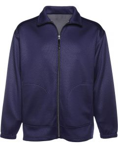 Men's Full ZIp Waterproof Embossed Fleece Jacket - Made in USA