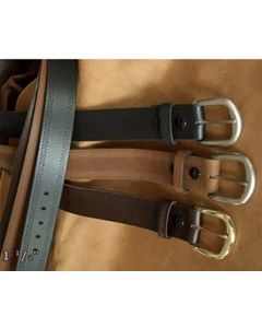 ALL USA Clothing Triple Stitch Leather Belt