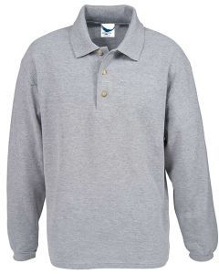 Long Sleeve Cotton Pique Polo Shirt - Made in USA
