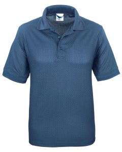 All USA Men's Basket Weave Polo