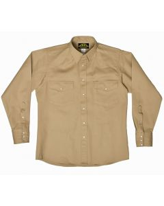 BB Brand B455R Khaki Work Shirt