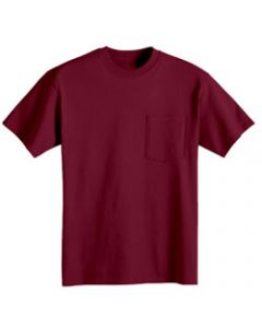 Bayside 7100 6.1oz Short Sleeve Pocket T-Shirt