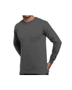 Bayside 8100 6.1 oz Long Sleeve Pocket T-Shirt
