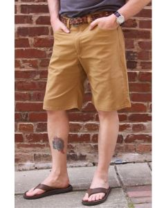 Diamond Gusset Light Weight Stretch Canvas Six-Pocket Shorts