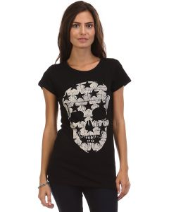 Crew neck distressed Skull & Star graphic tee - Made in USA