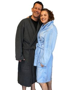 Unisex Fleece Bath Robe