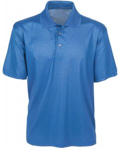 Honeycomb Embossed Polo Shirt