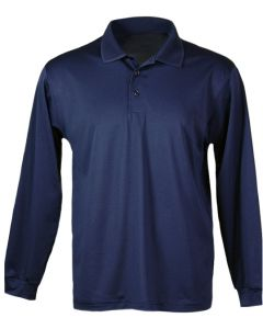 Men's Moisture Dry Long Sleeve Polo - Made in USA