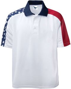 Short Sleeve American Flag Polo