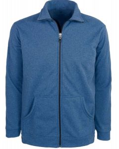 Men's Textured Hooded Full Zip Jacket
