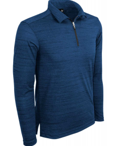 Tiger Stripe Long Sleeve Quarter Zip Polo