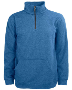 Men's Quarter Zip Textured Pullover