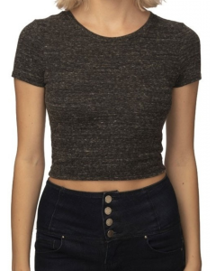 Women's eco Triblend Crop Tee