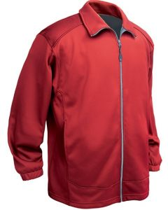 Men's Full ZIp Soft Shell Fleece Jacket with chest pocket - Made in USA