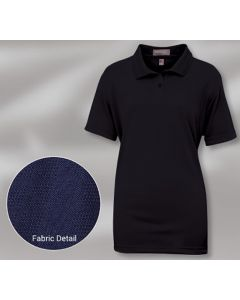 King Louie W6140 Lady Summers Moisture Management Diamond-Patterned Polo Shirt - Made in USA