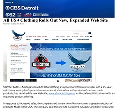 CBS Radio - All USA Clothing new site