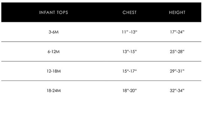 Infant Size Chart